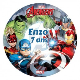 disque alimentaire avengers personnalise