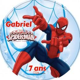 disque sucre spiderman personnalise