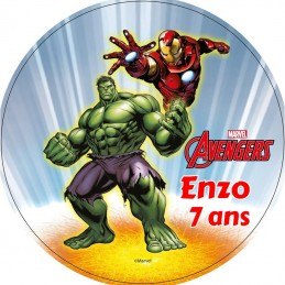 disque alimentaire personnalise avengers