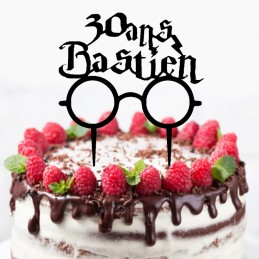 cake topper prenom harry potter