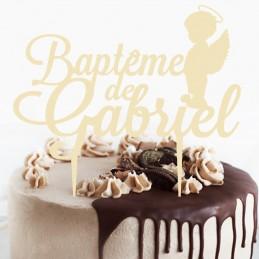 cake topper bapteme ange