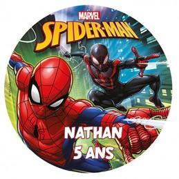 disque spiderman personnalisé