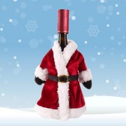 manteau bouteille vin noel
