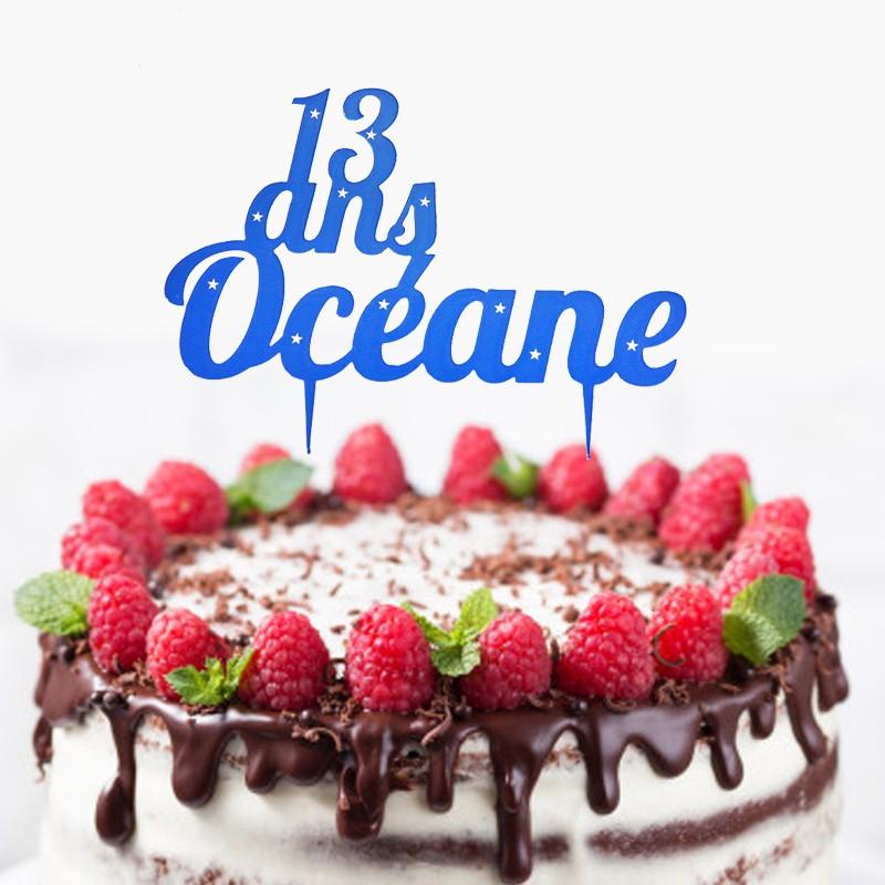 cake topper prenom