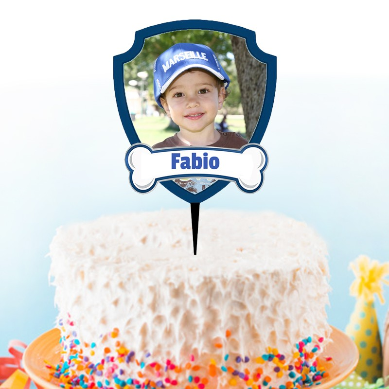 cake topper pat patrouille personnalise