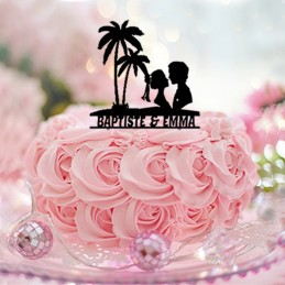 cake topper mariage personnalise