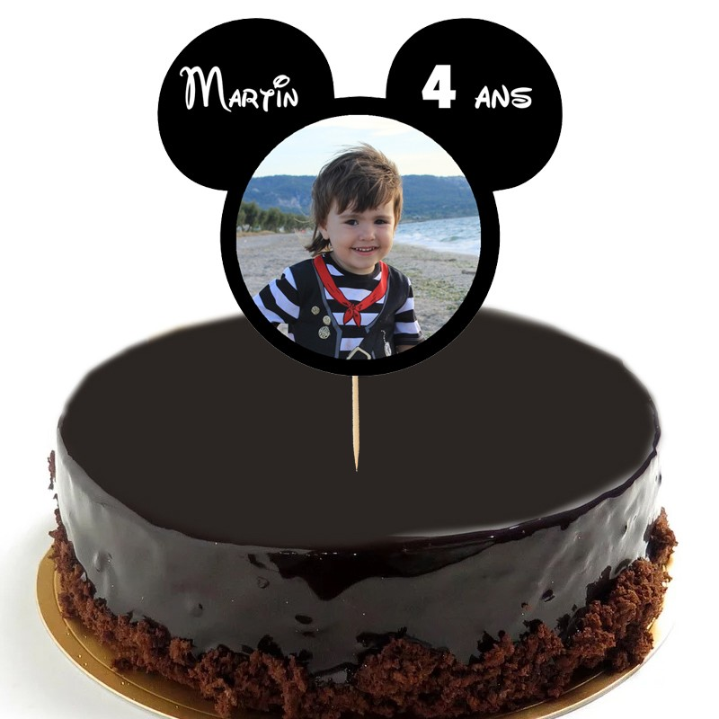 cake topper anniversaire mickey