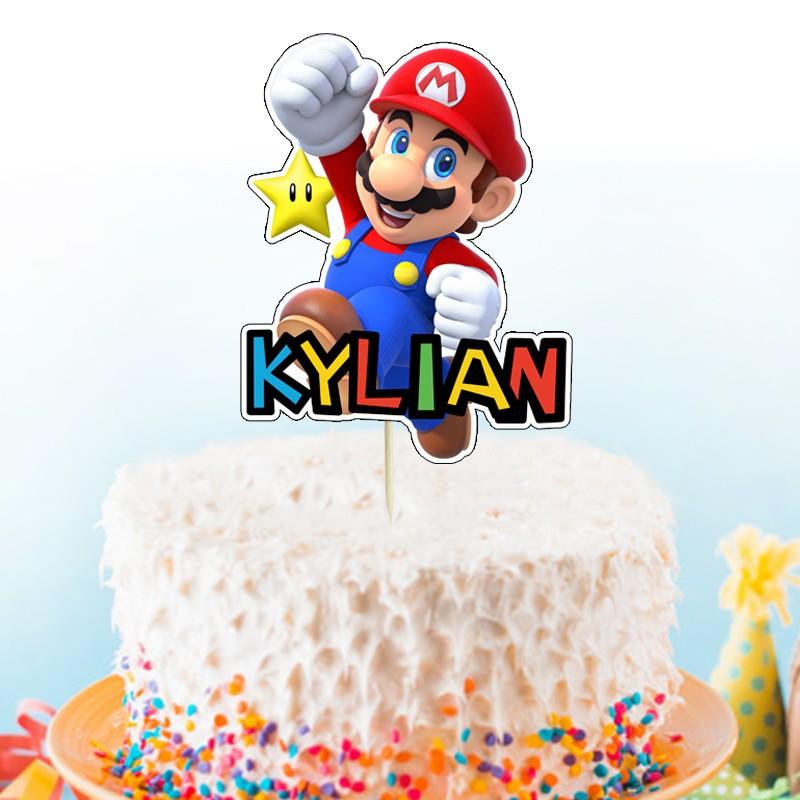 cake topper mario personnalisé