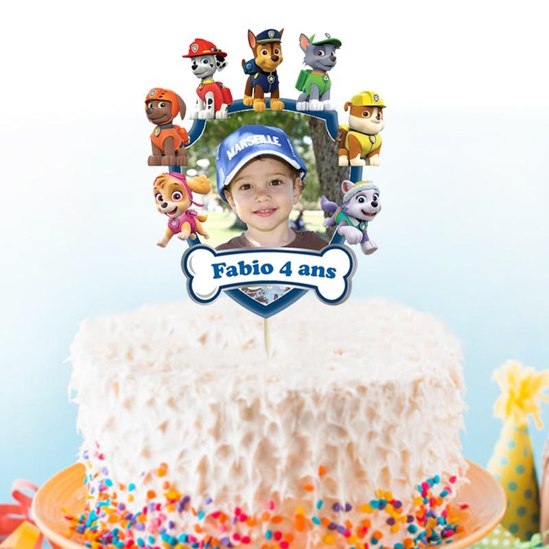cake topper pat patrouille personnalise