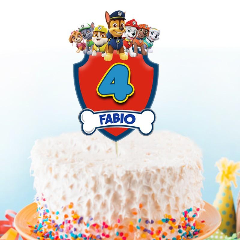 cake topper pat ptrouille personnalise