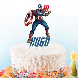 cake topper captain america personnalise
