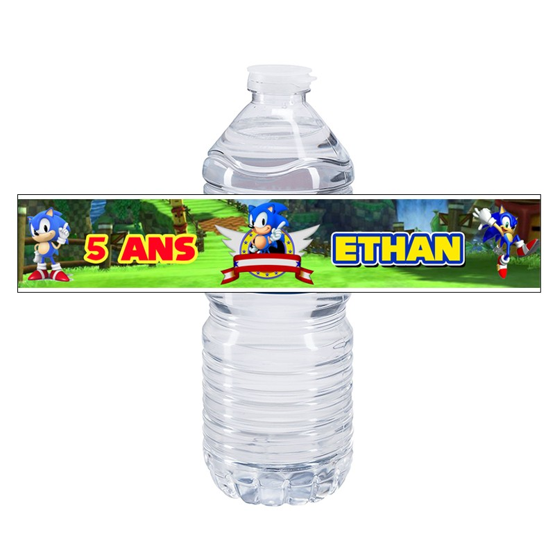 etiquette bouteille d'eau sonic