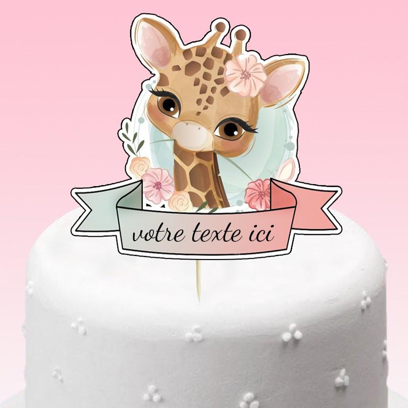 cake topper girafe
