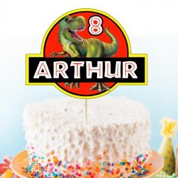 cake topper dinosaure