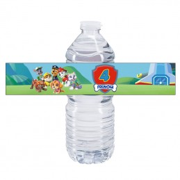 etiquette bouteille eau pat patrouille