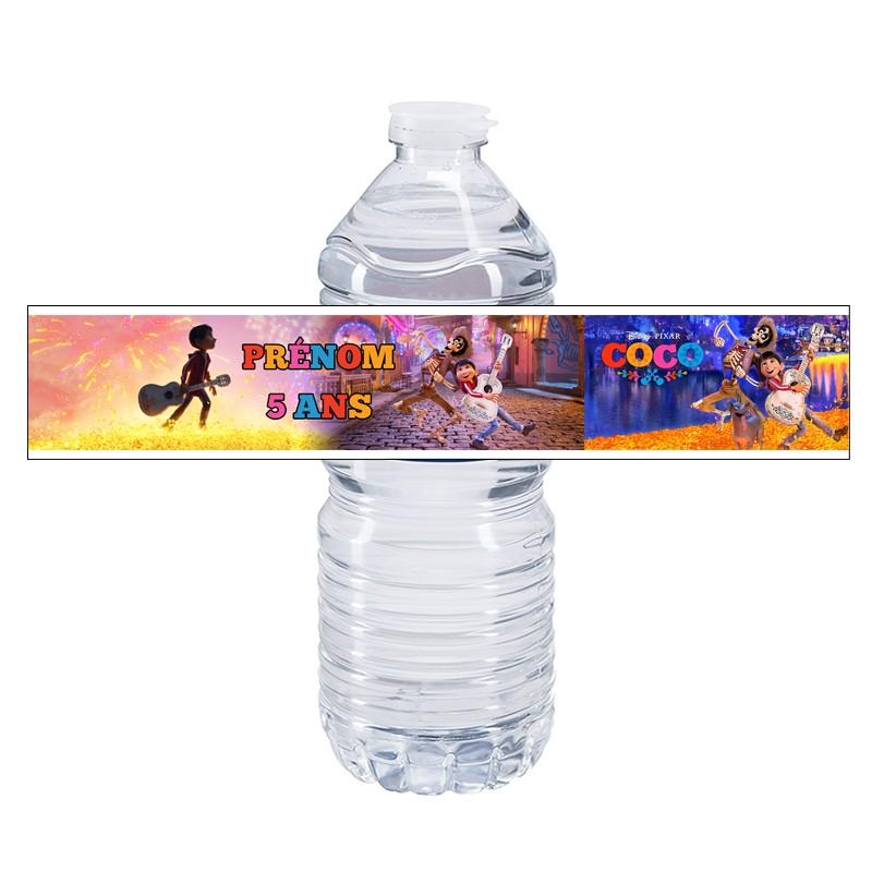 etiquette bouteille eau coco