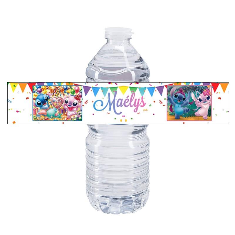 etiquette bouteille d'eau stitch