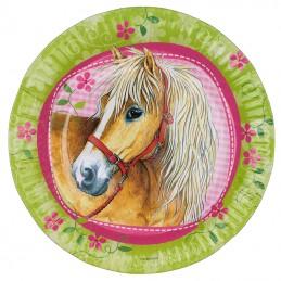 assiettes cheval