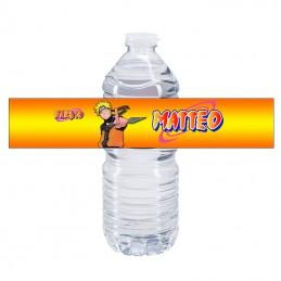 etiquette bouteille d'eau naruto