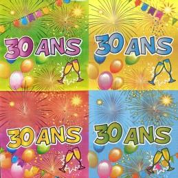 serviette anniversaire 30 ans