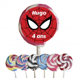 sucette spiderman personnalisee