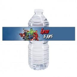etiquette bouteille d'eau Avengers