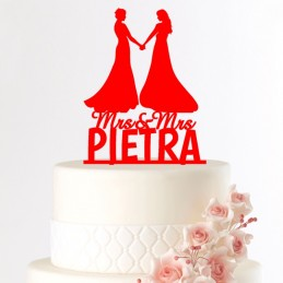 Cake topper couple lesbiennes