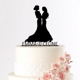 cake topper mariage lesbienne