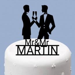 Cake topper couple gay