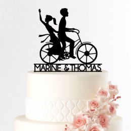 cake topper mariage velo