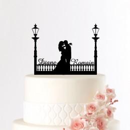 decoration gateau mariage personnalisee
