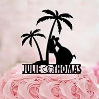 Décoration gâteau - cake topper mariage